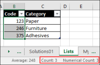 Count and Numerical Count