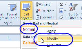 Normal font modify