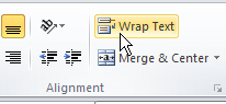 Wrap Text command