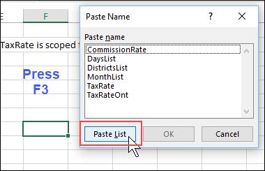 paste list box