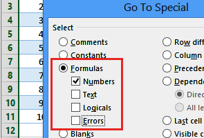 go to special formula numbers