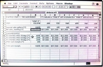 screen shot of Excel 3.0