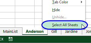 select all sheets for printing