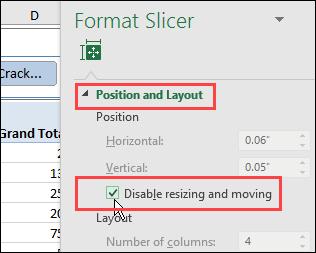 prevent Slicer from moving