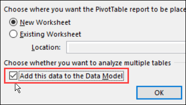 add to data model