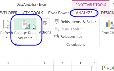 Excel Pivot Table Source Data