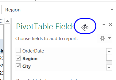 pivot table field list move