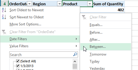sort pivot table in excel
