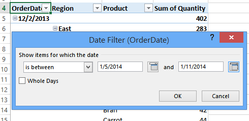 excel pivot table date format to month