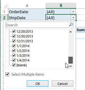 Excel Pivot Table Date Filters