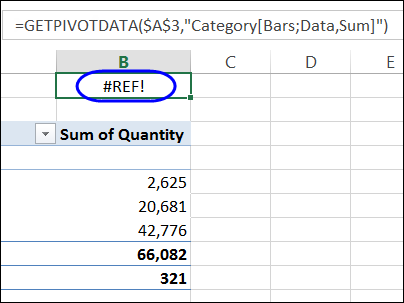 getpivotdata error with custom subtotal