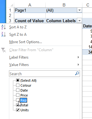 Excel Pivot Table Tutorial -- Multiple Consolidation Ranges