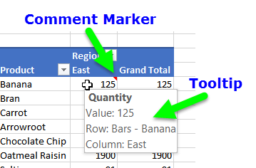 tooltip in comment cell