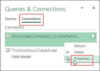 warning message data model properties