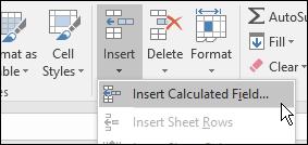 insert calculated field