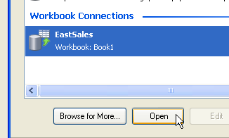 Open Workbook Connection