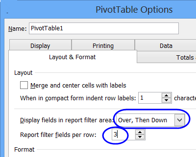 Excel Pivot Table Report Filters