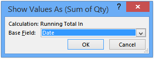 pivot table without running totals