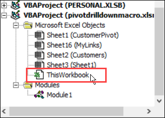 Excel Pivot Table DrillDown Show Details