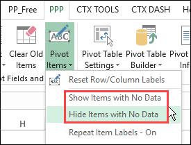 Pivot Power Premium add-in