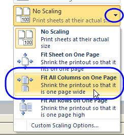 Printables Print Worksheets On One Page excel printing tips fit all columns on one page