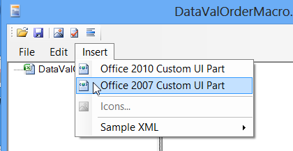 Excel Ribbon part create