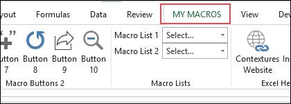 my macros tab