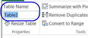 change table name