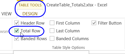 prepare data for excel table