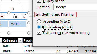 Filter with Excel Table Slicers