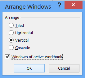 arrange windows horizontal