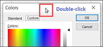 make custom colour dialog box bigger