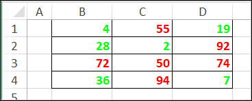 custom number format with color