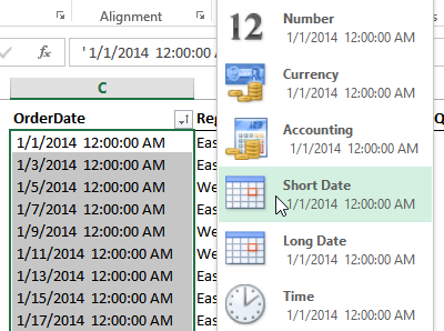 Excel Dates Fix Format