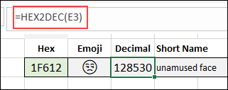 emoji formulas
