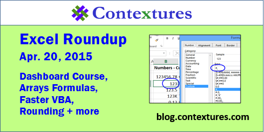 Contextures Excel Roundup Podcast 20150420