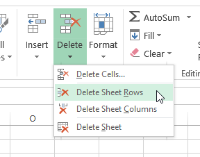 Delete Sheet Rows