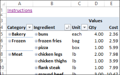 Excel Weekly Meal Planner – Grocery List Template Excel Free Download