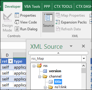 see the XML Source