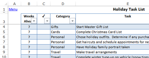 excel holiday planner template