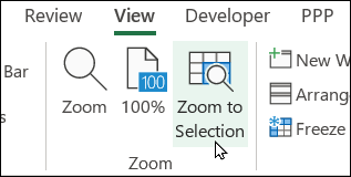 zoom to selection command