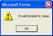 Invalid Property Value