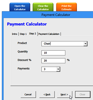 Cost Calculator UserForm