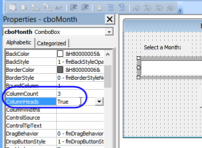Excel UserForm Combo Boxes