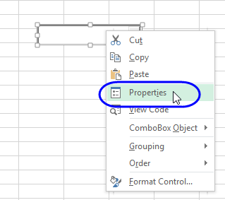 Excel Worksheet Combo Boxes