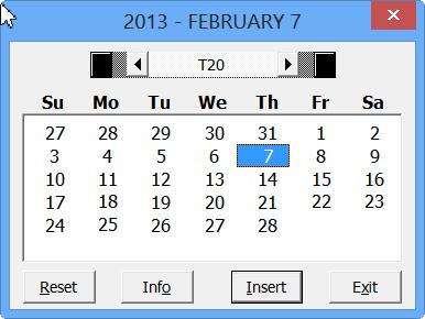 create a calendar in excel 2007