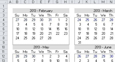 date picker calendar year