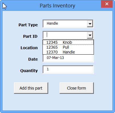 Excel UserForm With Dependent ComboBoxes