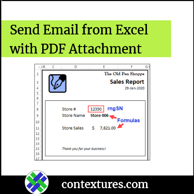 Send Email from Excel with PDF Attachment