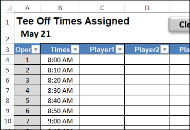 tee off times